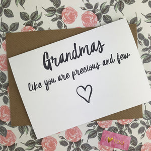 Mother's Day Card Grandmas Like You Are Precious And Few-3-The Persnickety Co