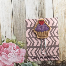 Load image into Gallery viewer, Felt Cupcake Paper Clip-2-The Persnickety Co