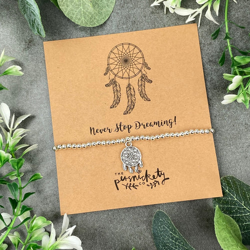 Never Stop Dreaming - Dream Catcher Beaded Bracelet-The Persnickety Co