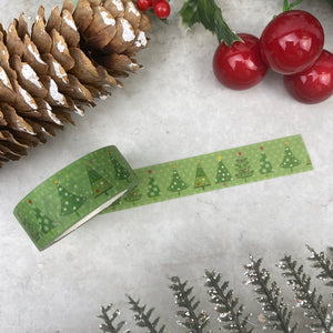 Green Christmas Tree Washi Tape