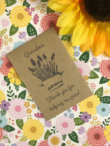 Grandma Thank You For Helping Me Grow Mini Kraft Envelope with Wildflower Seeds-9-The Persnickety Co