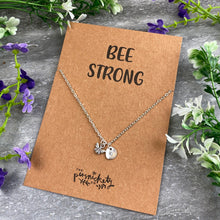Load image into Gallery viewer, Bee Strong Necklace-3-The Persnickety Co