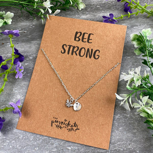 Bee Strong Necklace-3-The Persnickety Co