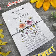 Load image into Gallery viewer, Mum If You Were A Flower Wish Bracelet On Plantable Seed Card-8-The Persnickety Co