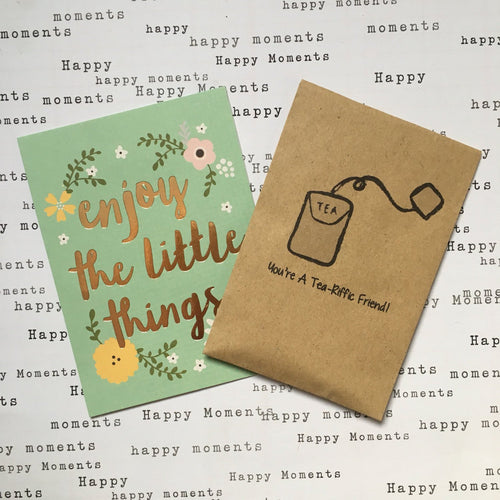 You're A Tea-Riffic Friend Mini Kraft Envelope with Tea Bag-The Persnickety Co