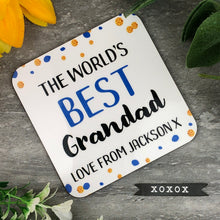 Load image into Gallery viewer, World's Best Grandad Personalised Coaster-The Persnickety Co