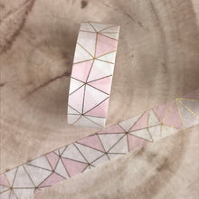 Load image into Gallery viewer, Pink Geometric Washi Tape-6-The Persnickety Co