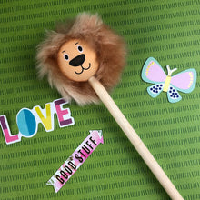 Load image into Gallery viewer, Lion Pencil with Fluffy Mane-4-The Persnickety Co