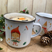 Load image into Gallery viewer, Elf Girl Personalised Enamel Mug