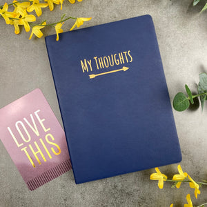 My Thoughts Journal Navy Blue-9-The Persnickety Co
