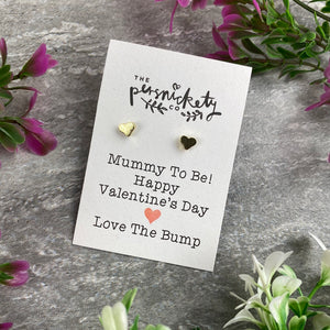 Mummy To Be Happy Valentine's Day Earrings-4-The Persnickety Co