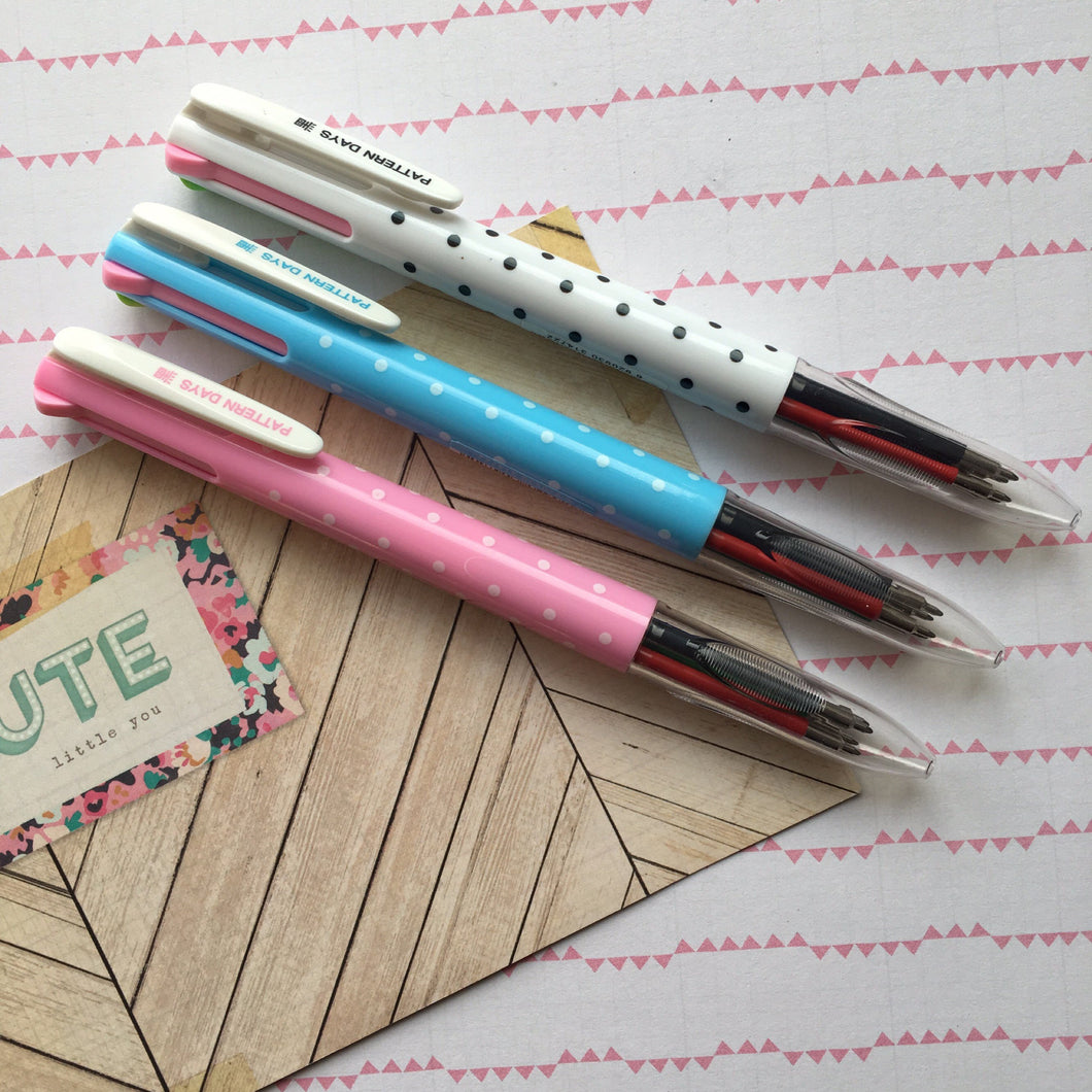 Polka Dot 4 Colour Ballpoint Pen-The Persnickety Co