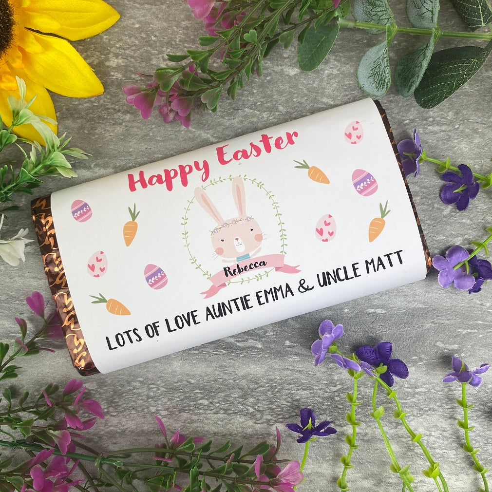 Emma's Pick of the Month - Personalised Happy Easter Chocolate Bar-The Persnickety Co