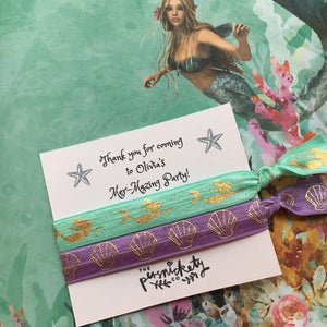 Personalised Mer-Mazing Party Hair Tie-2-The Persnickety Co