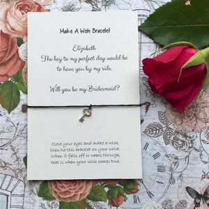 Bridesmaid Proposal - The Key To My Perfect Day... Wish Bracelet-7-The Persnickety Co