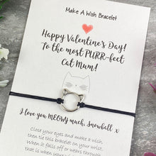 Load image into Gallery viewer, Happy Valentines Purr-Fect Cat Mum - Wish Bracelet-3-The Persnickety Co