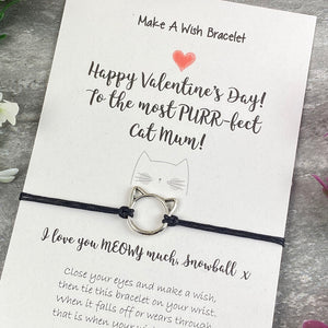 Happy Valentines Purr-Fect Cat Mum - Wish Bracelet-3-The Persnickety Co