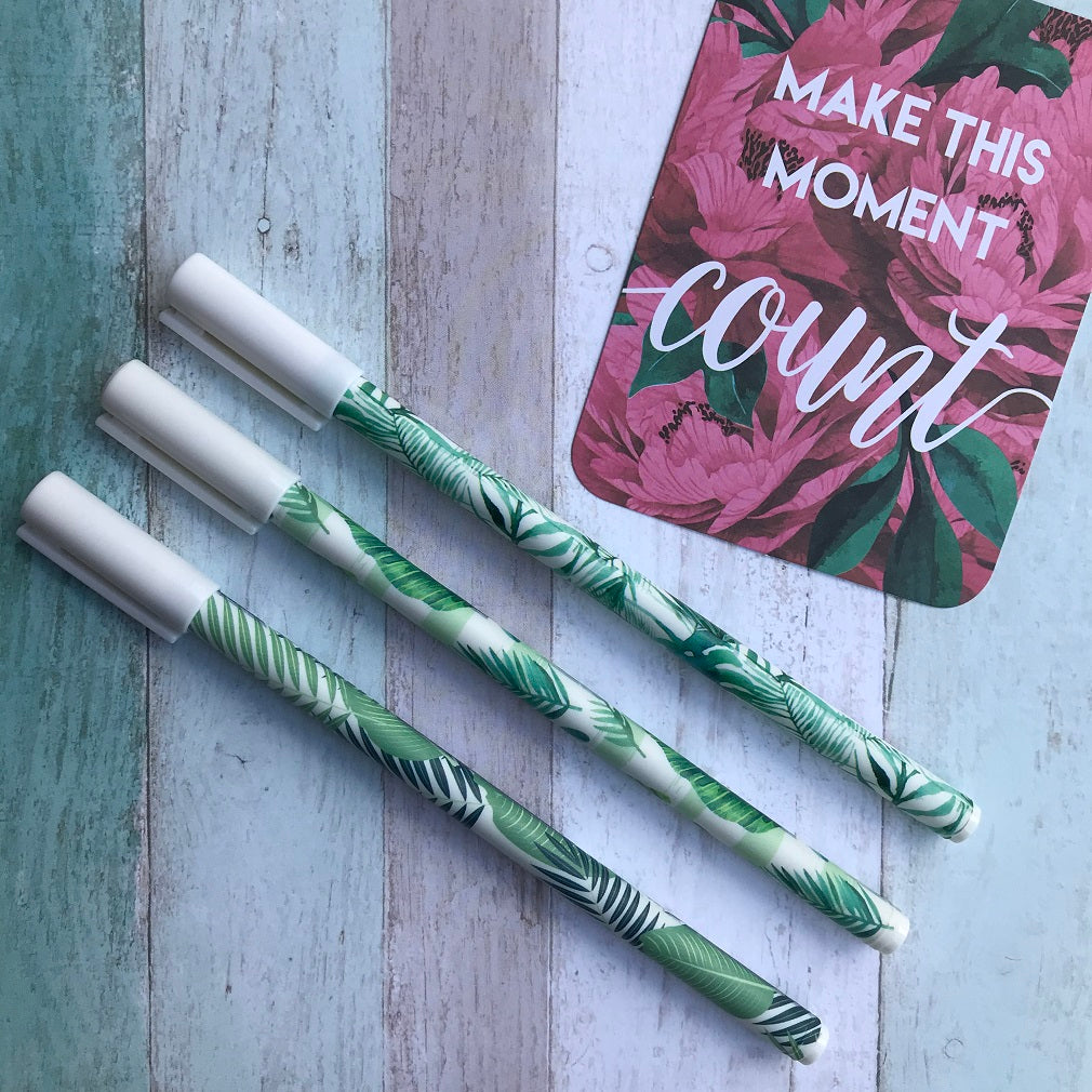Tropical Leaf Gel Pen-The Persnickety Co