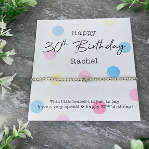Happy 30th Birthday Beaded Bracelet-9-The Persnickety Co