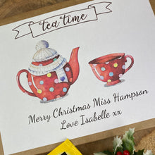 Load image into Gallery viewer, Teacher Christmas Tea & Biscuit Box