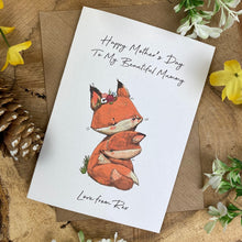 Load image into Gallery viewer, Fox Mother's Day Personalised Card-7-The Persnickety Co