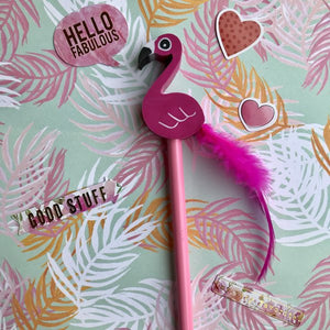 Novelty Pink Flamingo Pencil-4-The Persnickety Co