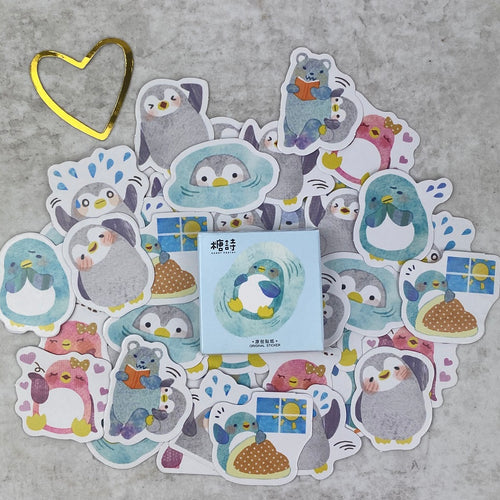 Penguin Stickers-The Persnickety Co