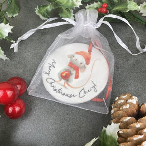 Personalised Christmouse Hanging Decoration-2-The Persnickety Co
