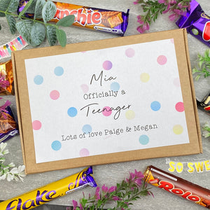 Officially A Teenager Personalised Chocolate Box-5-The Persnickety Co