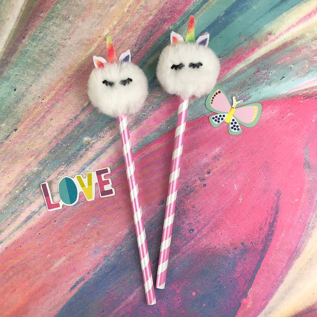 Fluffy Unicorn Pencil-The Persnickety Co