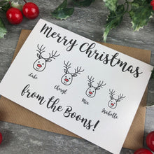 Load image into Gallery viewer, Personalised Reindeer Cards-8-The Persnickety Co