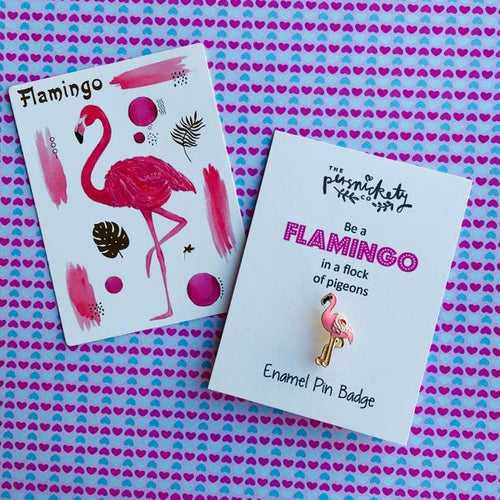 Flamingo Enamel Pin Badge-The Persnickety Co