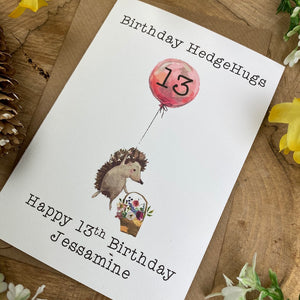 Birthday Hedgehugs - Personalised Card-8-The Persnickety Co