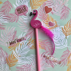 Novelty Pink Flamingo Pencil-3-The Persnickety Co