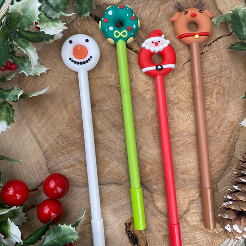 Doughnut Christmas Pens-The Persnickety Co