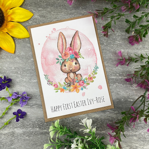 Cute Rabbit Happy First Easter Card-The Persnickety Co
