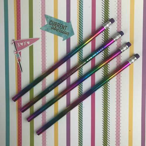 Rainbow Foil Pencil-The Persnickety Co