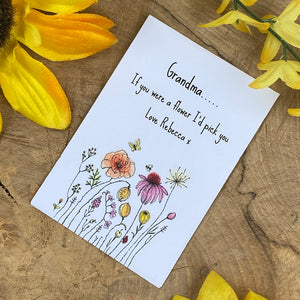 Grandma If You Were A Flower Mini Envelope with Wildflower Seeds-6-The Persnickety Co