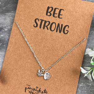 Bee Strong Necklace-8-The Persnickety Co