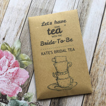 Load image into Gallery viewer, Let's Have Some Tea With The Bride To Be 12 x Tea Favours-4-The Persnickety Co