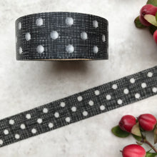 Load image into Gallery viewer, Black and White Polka Dot Washi Tape