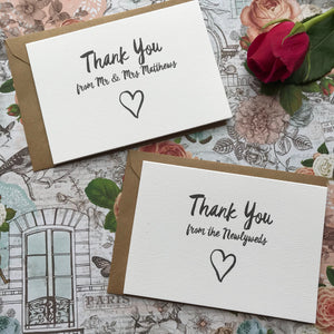 Thank You Wedding Card-The Persnickety Co