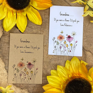 Grandma If You Were A Flower Mini Envelope with Wildflower Seeds-The Persnickety Co