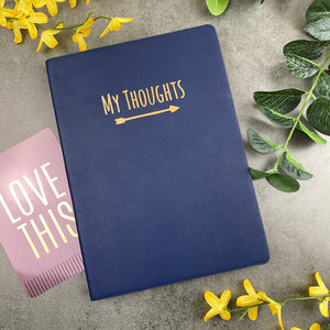 My Thoughts Journal Navy Blue-The Persnickety Co