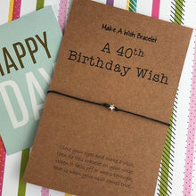 Load image into Gallery viewer, A 40th Birthday Wish - Star-8-The Persnickety Co