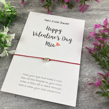 Load image into Gallery viewer, Happy Valentine's Day Personalised Wish Bracelet-The Persnickety Co