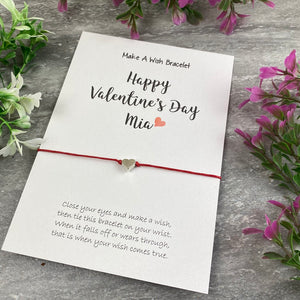 Happy Valentine's Day Personalised Wish Bracelet-The Persnickety Co