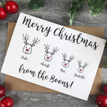 Load image into Gallery viewer, Personalised Reindeer Cards-9-The Persnickety Co