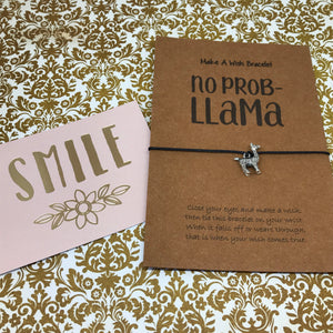 No Prob Llama Wish Bracelet-9-The Persnickety Co