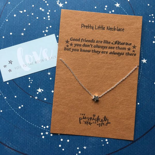 Good Friends Are Like Stars Silver/Gold Necklace-The Persnickety Co